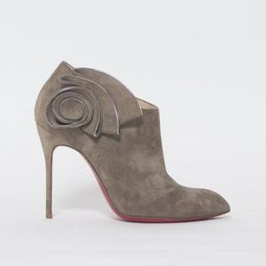 Grey Suede Mrs Baba 100mm Ankle Booties Size 8.5